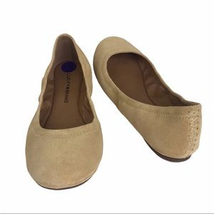 Lucky Brand LP- Erin light yellow oiled suede flat